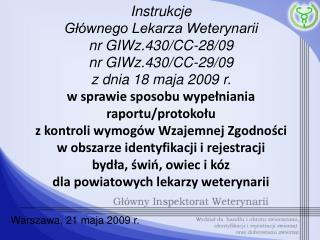 Warszawa, 21 maja 2009 r.