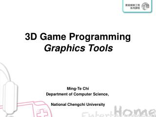 3D Game Programming Graphics Tools