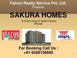 Global Eco City Sakura Homes Bhiwadi @9266158585