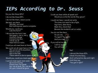 IEPs According to Dr. Seuss