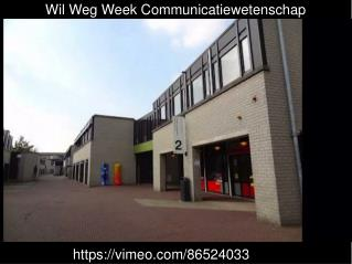 Wil Weg Week Communicatiewetenschap