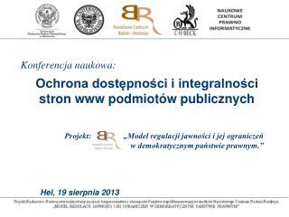 Ochrona dostępności i integralności stron www podmiotów publicznych