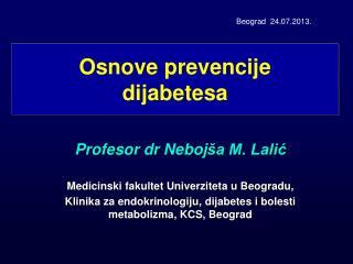 Osnove prevencije dijabetesa