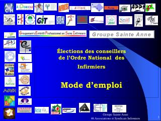 Élections des conseillers de l'Ordre National  des Infirmiers Mode d'emploi