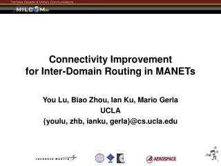 Connectivity Improvement  for Inter-Domain Routing in MANETs