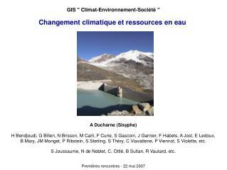 Changement climatique et ressources en eau