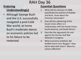 RAH Day 36