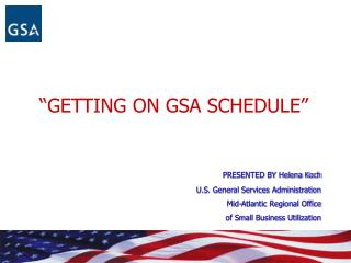 GETTING ON GSA SCHEDULE