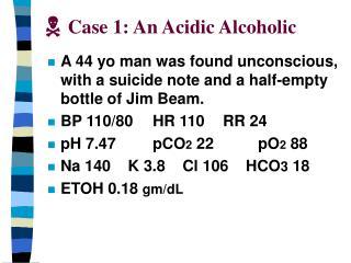 Case 1: An Acidic Alcoholic