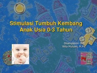 Stimulasi Tumbuh Kembang Anak Usia 0-3 Tahun