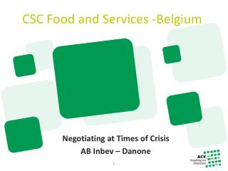 CSC Food and Services - Belgium