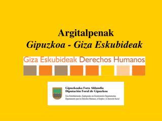 Argitalpenak Gipuzkoa - Giza Eskubideak