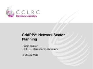 GridPP2: Network Sector Planning