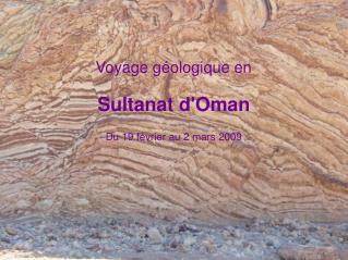 Voyage géologique en  Sultanat d'Oman Du 19 février au 2 mars 2009