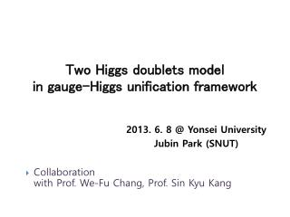 Two Higgs doublets model  in gauge-Higgs unification framework