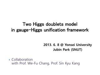 Two Higgs doublets model  in gauge-Higgs unification framework