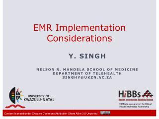 EMR Implementation Considerations