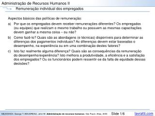 Administração de Recursos Humanos II