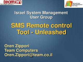 SMS Remote control Tool - Unleashed