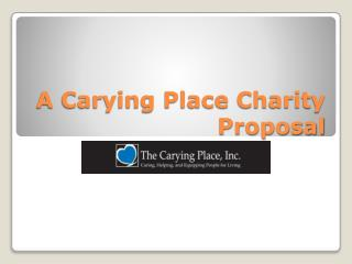 A Carying Place Charity Proposal