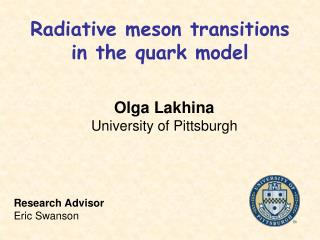 Radiative meson transitions  in the quark model