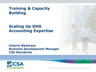 CSA Standards Background