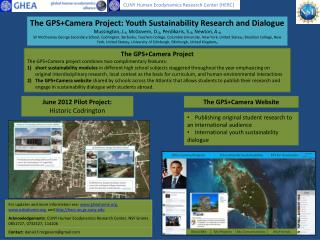 The  GPS+Camera  Project: Youth Sustainability Research and Dialogue