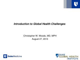 Introduction to Global Health Challenges