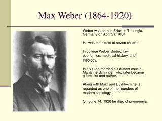 Max Weber 1864-1920