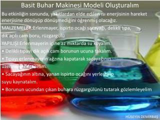 Basit Buhar Makinesi Modeli  Oluşturalım