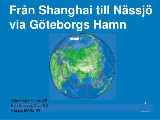 Från Shanghai till Nässjö via Göteborgs Hamn