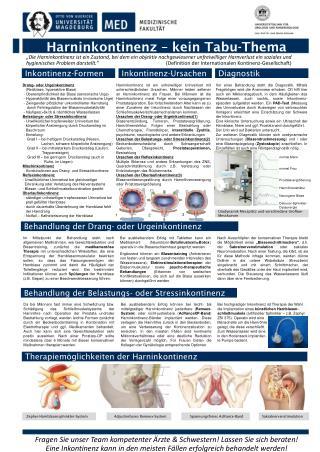 Harninkontinenz – kein Tabu-Thema