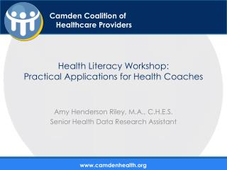 Health Literacy Workshop:  Practical Applications for Health Coaches