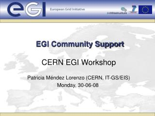 EGI Community Support