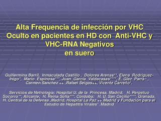 SITUACIÓN ACTUAL INFECCIÓN OCULTA POR VIRUS C