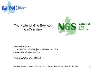 The National Grid Service: An Overview