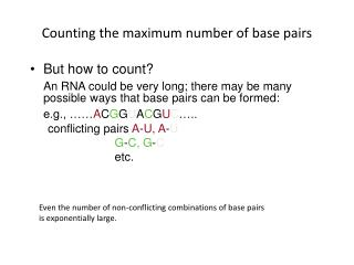 Counting the maximum number of base pairs
