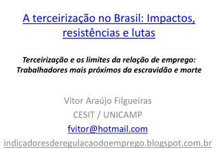 Vitor Araújo  Filgueiras CESIT / UNICAMP fvitor@hotmail
