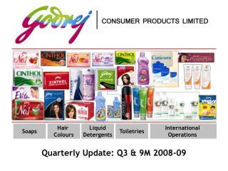 Quarterly Update: Q3 & 9M 2008-09
