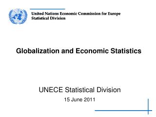 Globalization and Economic Statistics