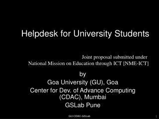 Helpdesk for University Students