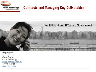 Contracts and Managing Key Deliverables