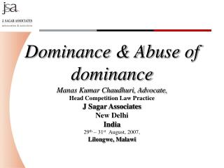 Dominance & Abuse of dominance