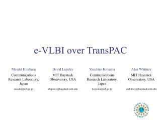 e-VLBI over TransPAC