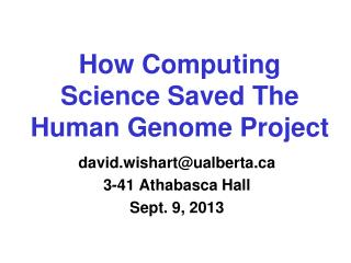How Computing Science Saved The Human Genome Project