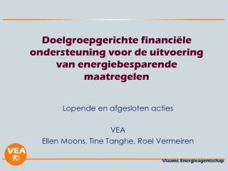 Doelgroepgerichte financiële ondersteuning voor de uitvoering van energiebesparende maatregelen