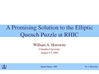 A Promising Solution to the Elliptic Quench Puzzle at RHIC