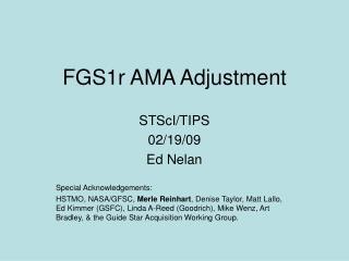 FGS1r AMA Adjustment