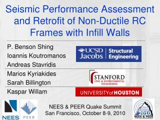 Seismic Performance Assessment and Retrofit of Non-Ductile RC Frames with Infill Walls