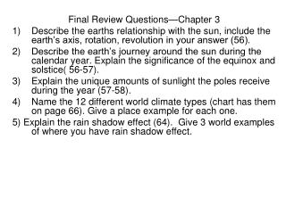 Final Review Questions—Chapter 3